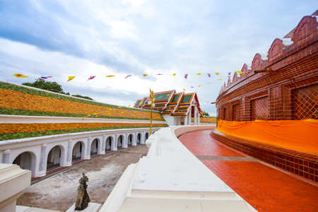 Phra Pathom Chedi temple in Nakhon Pathom Province, Thailand. photo