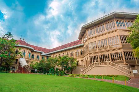 Vimanmek Mansion, Dusit Palace, the worlds largest golden teak building, Bangkok Thailand Editorial