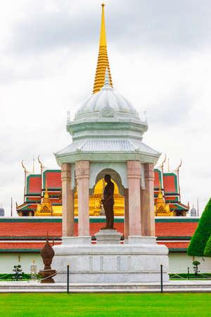 statue of King Rama RAMA IX in Grand Palace, Landmarks of Bangkok. Thailand Editorial