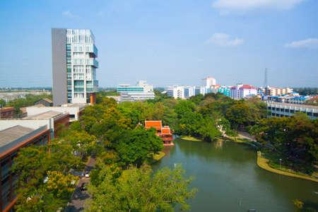 Park in the city Bangkok, Thailan Stock Photo