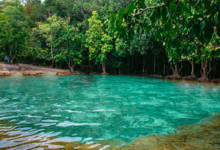 The emerald pool at Krabi, Thailand