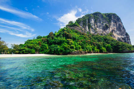 The beautiful landscape of Poda Island in Krabi province, Thailand.