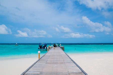 Beautiful tropical Maldives resort and island Stock Photo