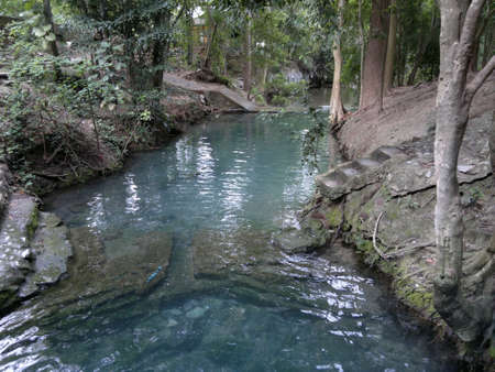 water well: Blue water well