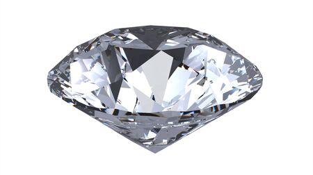 queen diamonds: diamante gemma, rendering, isolata on white Archivio Fotografico