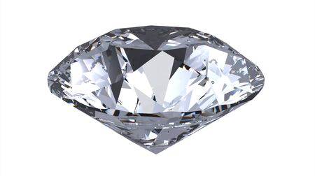 scintillate: gema de diamante, procesamiento, aislado en blanco Foto de archivo