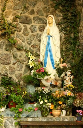 A grotto of the blessed virgin Mary Stock Photo