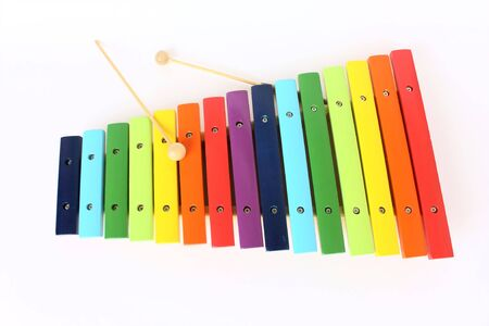 toy colorful xylophone, isolated