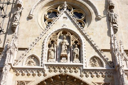 Detail on cathedral over entrance door, Zagreb Stock Photo - 6078104