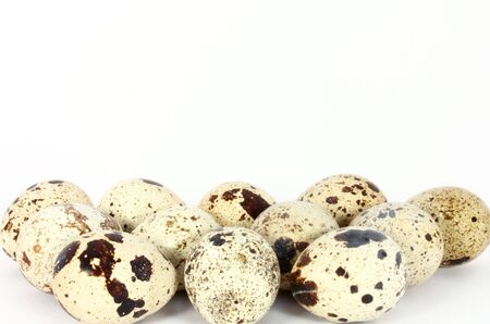 japanese quail: Eggs of japanese quail isolated on white