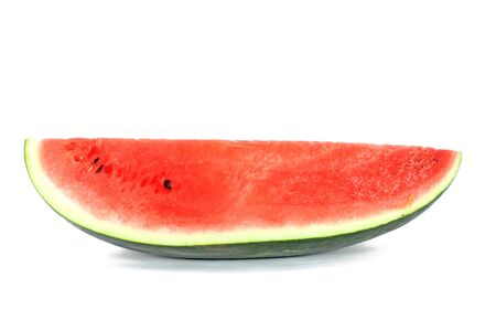 Piece of ripe watermelon isolated on white