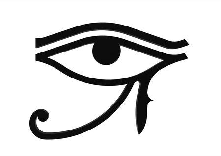 ojo de horus: Ojo de Horus s�mbolo del dios egipcio Horus, jerogl�fico  Foto de archivo