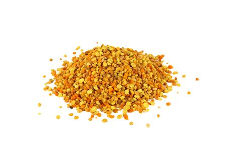 Bunch of bee pollen isolated on white