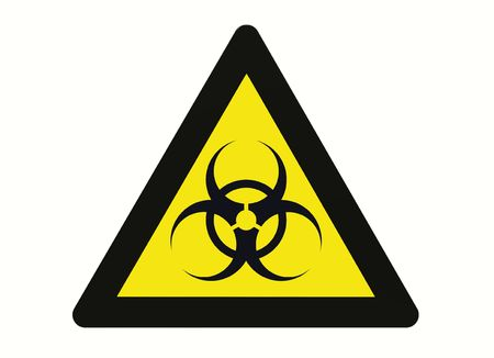 Biohazard sign isolated on white 3d render Stock Photo - 7407829