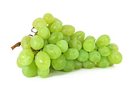 Ripe grapes isolated on white photo