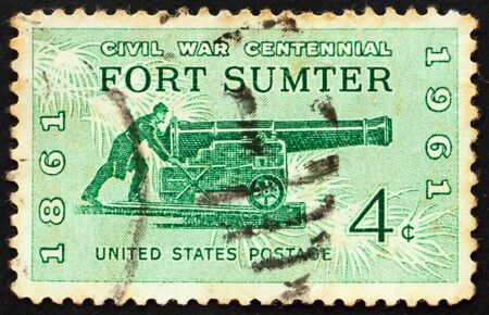 Civil war centennial Issue Fort Sumter Sea coast gun of 1861 Stock Photo - 8547304