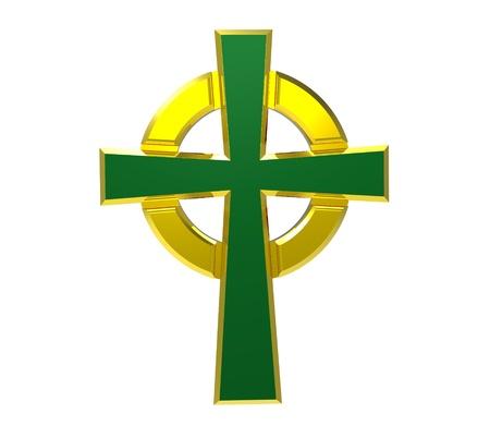 croce celtica: Croce celtica isolato su bianco rendering 3d