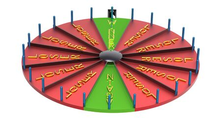 Wheel of fortune with words winner loser isolated on white Stock Photo - 8783815