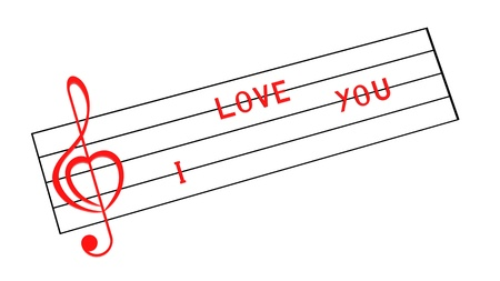 Love song and words I love you Stock Photo - 8783819