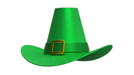 Leprechaun hat isolated on white background photo