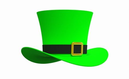 Leprechaun hat isolated on white background photo