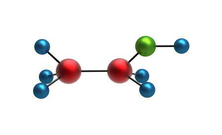 ethanol: Molecule of Ethanol 3d render isolated on white