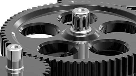 Mechanism concept 3d render of a gear photo