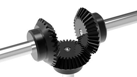 Mechanism concept 3d render of a gears photo
