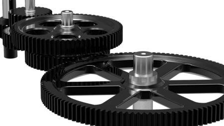 Mechanism concept 3d render of a gear Stock Photo - 9312078