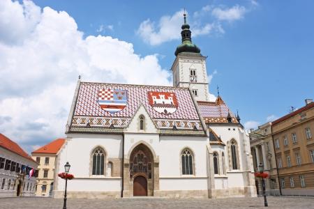 Kerk van St. Marcus Zagreb, Kroatië Stockfoto