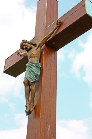 sacrifices: Jesus Christ crucified symbol of Gods love Stock Photo