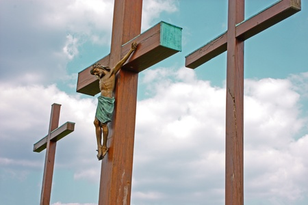 Jesus Christ crucified symbol of Gods eternal love photo