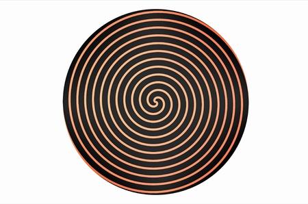 hypnotique: Spirale hypnotique sur le rendu 3d plaque ronde Banque d'images