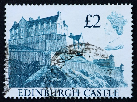 GREAT BRITAIN - CIRCA 1988: a stamp printed in the Great Britain shows Edinburgh Castle, circa 1988 Stock Photo - 11190428