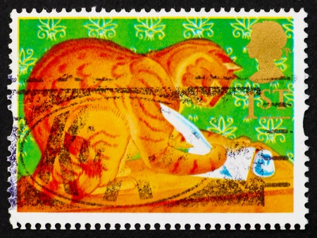 hale: GREAT BRITAIN - CIRCA 1994: a stamp printed in the Great Britain shows Orlando, the Marmalade Cat, cartoon character by Kathleen Hale, circa 1994