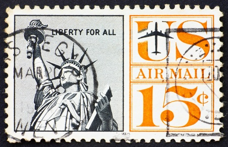 UNITED STATES OF AMERICA - CIRCA 1959: a stamp printed in the United States of America shows Statue of Liberty, circa 1959 photo