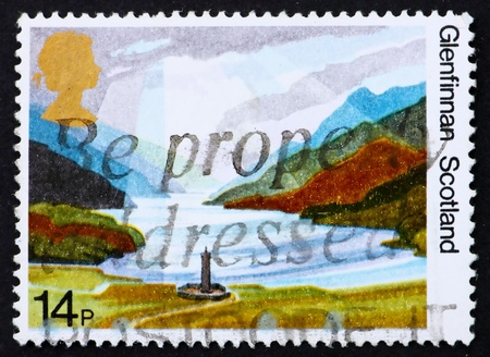 GREAT BRITAIN - CIRCA 1981: a stamp printed in the Great Britain shows Glenfinnan Highlands, Scotland, circa 1981 Stock Photo - 11278287