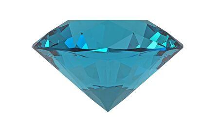 beryl: Aquamarine jewel isolated on white background, 3d render