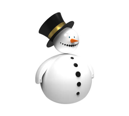 Snowman Christmas decoration isolated on white 3d render photo