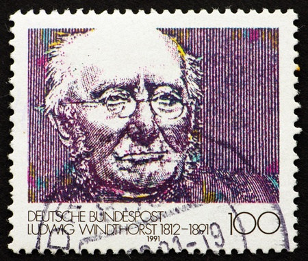 GERMANY - CIRCA 1991: a stamp printed in the Germany shows Ludwig Windthorst, politician, circa 1991 Stock Photo - 11278325