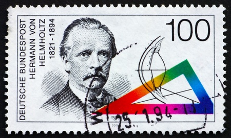 GERMANY - CIRCA 1994: a stamp printed in the Germany shows Hermann von Helmholtz, Scientist, circa 1994 photo