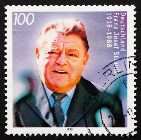 franz josef: GERMANY - CIRCA 1995: a stamp printed in the Germany shows Franz Josef Strauss, Politician, circa 1995