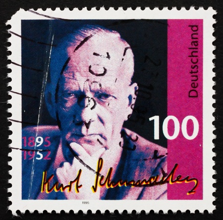 GERMANY - CIRCA 1995: a stamp printed in the Germany shows Kurt Schumacher, Politician, circa 1995 photo