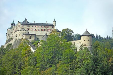 Hohenwerfen Castle, medieval castle in Austria near Salzburg photo