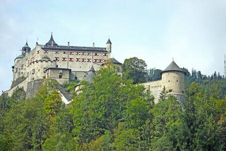 Hohenwerfen Castle, medieval castle in Austria near Salzburg photo
