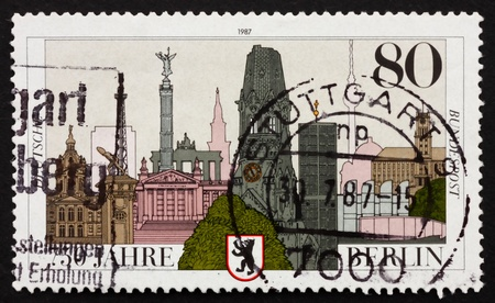 GERMANY - CIRCA 1987: a stamp printed in the Germany shows City of Berlin, 750th Anniversary, circa 1987 photo