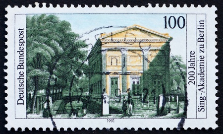 choral: GERMANY - CIRCA 1991: a stamp printed in the Germany shows Choral singing academy of Berlin, bicentennial, circa 1991