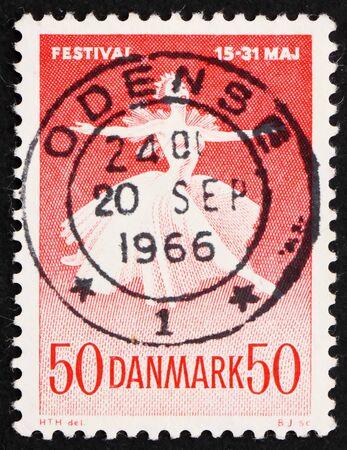 DENMARK - CIRCA 1965: a stamp printed in the Denmark shows Ballet Dancer, Danish Ballet and Music Festival, circa 1965 Stock Photo - 12012475