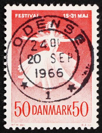 DENMARK - CIRCA 1965: a stamp printed in the Denmark shows Ballet Dancer, Danish Ballet and Music Festival, circa 1965 Stock Photo - 12012475