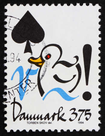 DENMARK - CIRCA 1994: a stamp printed in the Denmark shows Illustration of Duck, Conservation of Water, circa 1994 illustration
